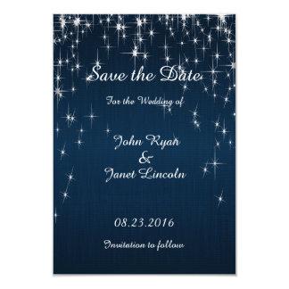 """Estrella encantadora pegada casando azules marinos invitación 3.5"""" x 5"""""""