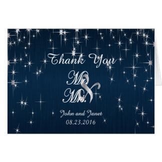 Estrella encantadora pegada casando azules marinos tarjeta pequeña