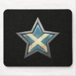 Estrella escocesa de la bandera con el efecto de a alfombrilla de ratones