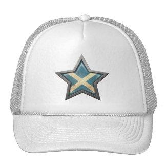 Estrella escocesa de la bandera gorro