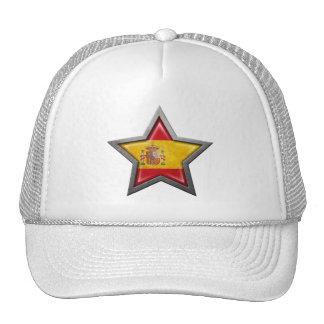 Estrella española de la bandera gorras