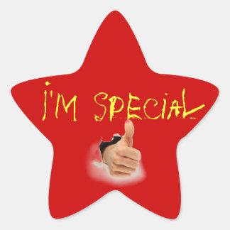 estrella especial pegatina en forma de estrella