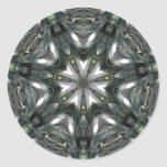 Estrella espectrónica de plata de la cinta pegatinas redondas