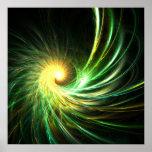 Estrella espiral verde - poster