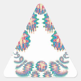 Estrella estallada - demostración de Supershine Pegatina Triangular