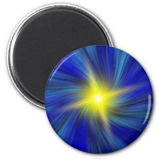 Estrella estallada en imán azul del vórtice que re