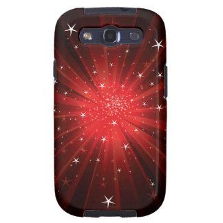 Estrella estallada - rojo samsung galaxy SIII funda