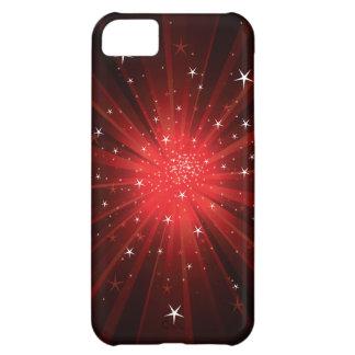 Estrella estallada - rojo funda para iPhone 5C