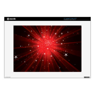 Estrella estallada - rojo 38,1cm portátil calcomanía