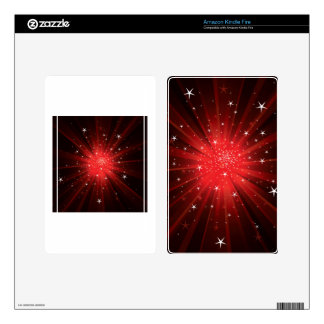 Estrella estallada - rojo kindle fire pegatinas skins