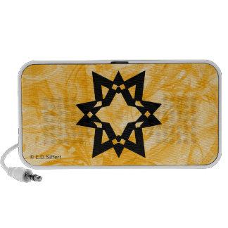 Estrella estilizada laptop altavoz