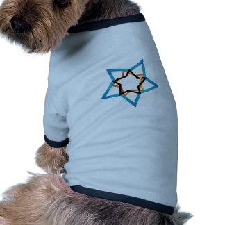 Estrella estilizada camiseta con mangas para perro