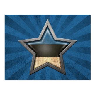 Estrella estonia de la bandera con los rayos de la tarjetas postales