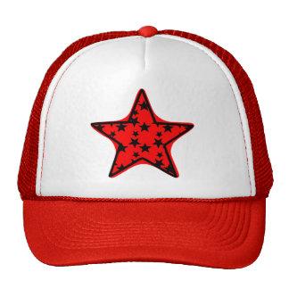 ¡Estrella estrellada! Gorros Bordados