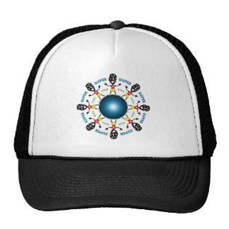 Estrella estupenda del vudú gorras