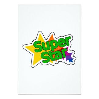 Estrella estupenda invitación 8,9 x 12,7 cm