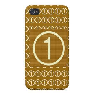 Estrella estupenda NumberOne iPhone 4 Protectores