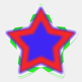 Estrella estupenda pegatina en forma de estrella