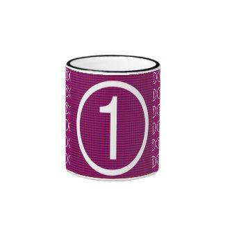 Estrella estupenda púrpura holística NumberOne Taza A Dos Colores