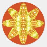 Estrella etérea de los diamantes (ambarina) pegatina redonda