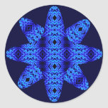 Estrella etérea de los diamantes (lapislázuli) pegatina redonda