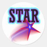 Estrella Etiquetas Redondas