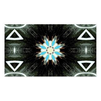 estrella-explosión azul geométrica tarjetas de visita