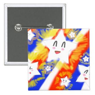 Estrella feliz 4ta de Kawaii del botón de julio Pin