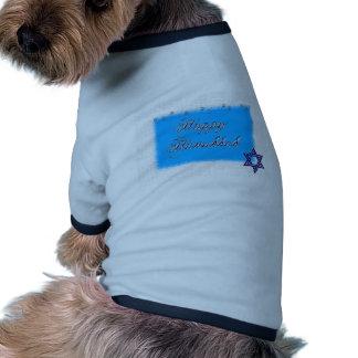 estrella feliz 5 del hannukkah camisetas de perrito
