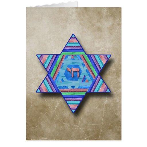 Estrella feliz de Jánuca de la tarjeta de felicita