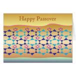 Estrella feliz del Passover de la tarjeta de David