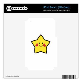 Estrella feliz iPod touch 4G calcomanías