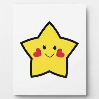 Estrella feliz placas