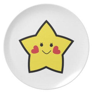 Estrella feliz plato