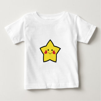 Estrella feliz playera de bebé
