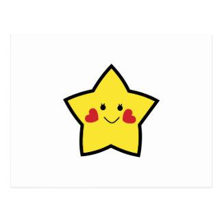 Estrella feliz postales