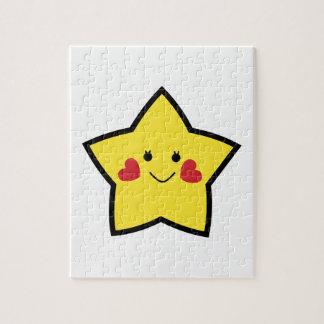 Estrella feliz puzzles