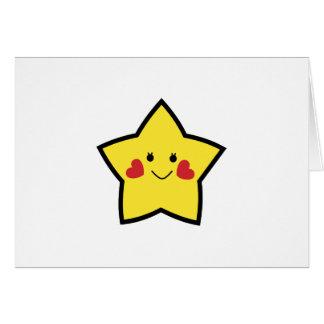 Estrella feliz tarjeta de felicitación
