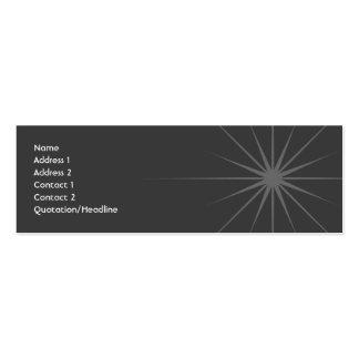 Estrella - flaca tarjetas de visita mini