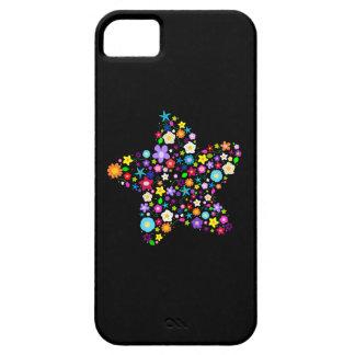 Estrella floral colorida bonita iPhone 5 cobertura