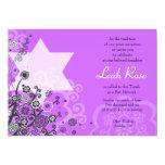 Estrella floral de la púrpura de la invitación de