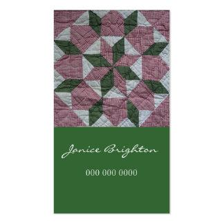 Estrella floral plantillas de tarjetas de visita