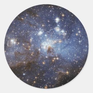 Estrella-Formación de LH 95 de la región Pegatina Redonda
