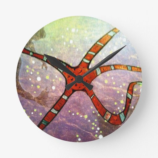 Estrella frágil reloj de pared