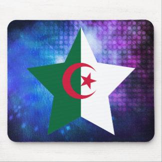 Estrella fresca de la bandera de Argelia Tapete De Raton