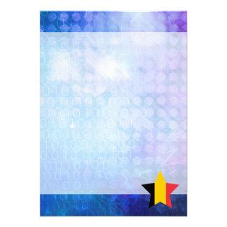 """Estrella fresca de la bandera de Bélgica Invitación 5"""" X 7"""""""