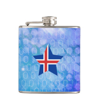 Estrella fresca de la bandera de Islandia