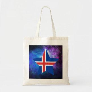 Estrella fresca de la bandera de Islandia Bolsa Tela Barata
