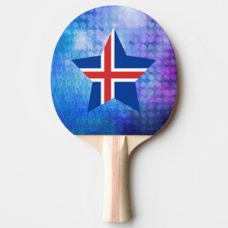 Estrella fresca de la bandera de Islandia Pala De Ping Pong