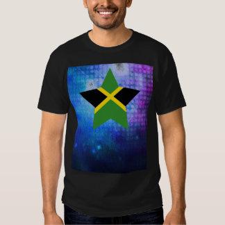 Estrella fresca de la bandera de Jamaica Playera